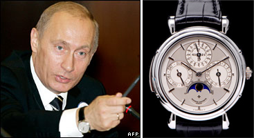 Putin's and Berlusconi's watches
