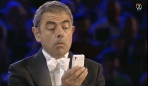 Samsung smart phone at London 2012 opening ceremony (2012, screen capture from RTVSLO)