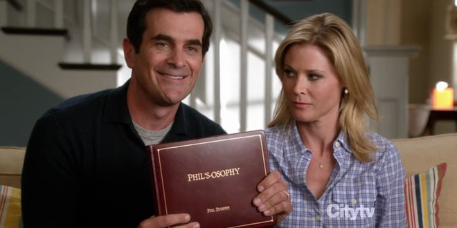 Roger Sterling and Schmidt already have their own books; we're now waiting for Phil's-osophy from Modern Family