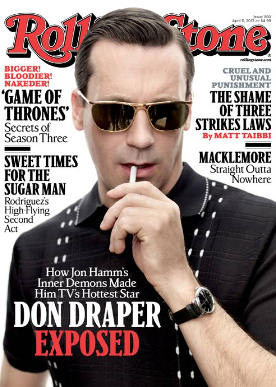 Don Draper on the cover of RollingStone
