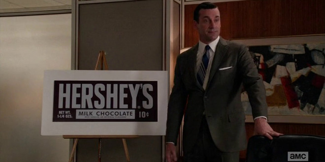 Hershey's in Mad Men: The currency of affection