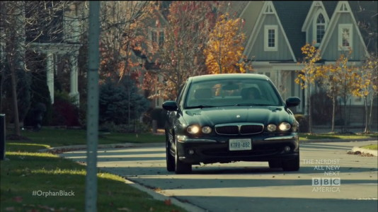 Jaguar X-Type from Orphan Black (2013, BBC America, screen capture)