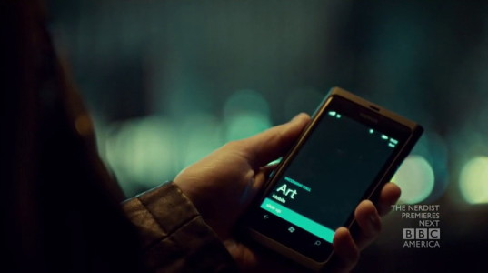 Nokia Lumia 900 from Orphan Black (2013, BBC America, screen capture)