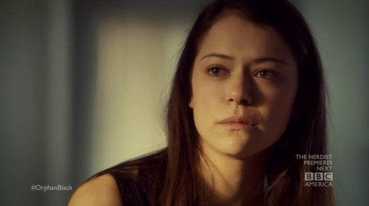 Tatiana Maslany from Orphan Black (2013, BBC America, screen capture)