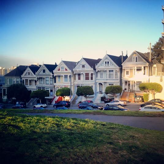 Painted ladies in San Francisco (photo by Erik R.)