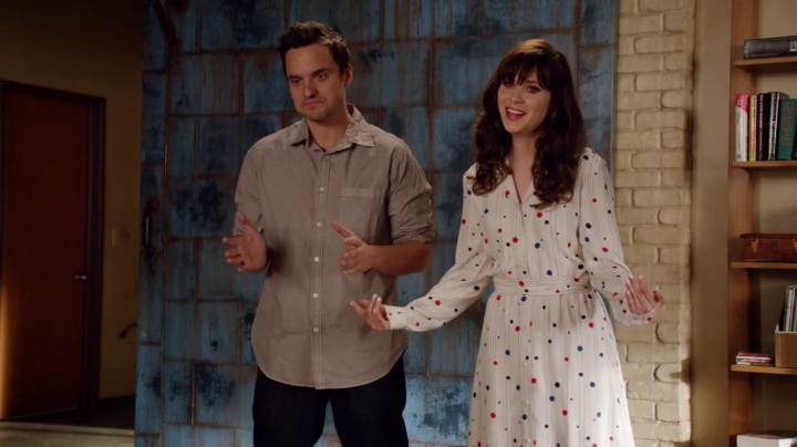 To Tommy From Zooey dress in New Girl (2014, Fox, screen capture)