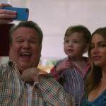 Cam and iPhone in Modern Family