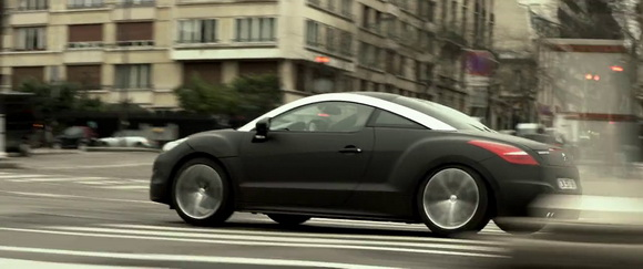 Peugeot RCZ in 30 Days to Kill (2014, EuropaCorp, screen capture)