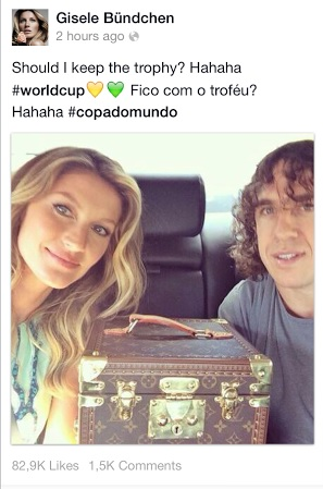 Gisele Bundchen and Carles Puyol