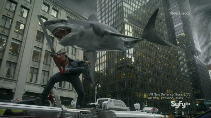 Sharknado 2: The Second One (2014, SyFy, screen capture)