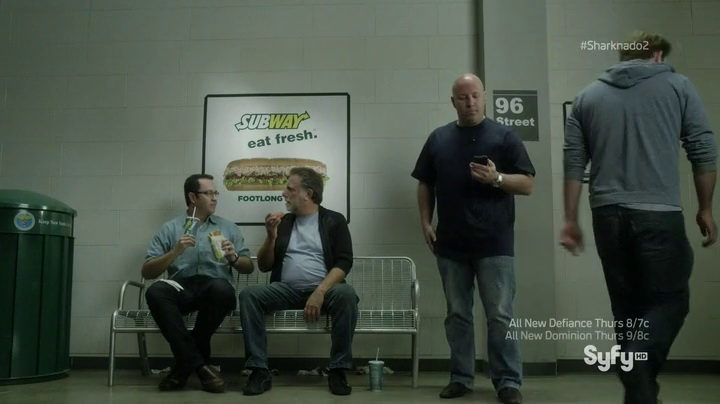 Subway in Sharknado 2: The Second One (2014, SyFy, screen capture)