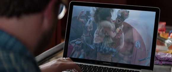 Mac Book Pro in Neighbors (2014, Universal, screen capture)