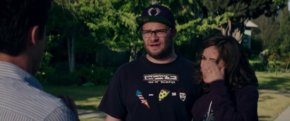 Odd Future hat in Neighbors (2014, Universal, screen capture)