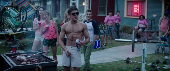 Pabst Blue Ribbon in Neighbors (2014, Universal, screen capture)