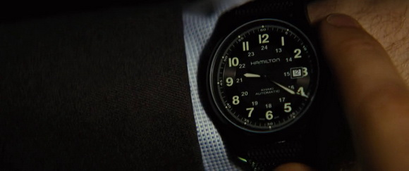 Hamilton watch in Jack Ryan: Shadow Recruit (2014, Paramount, screen capture)