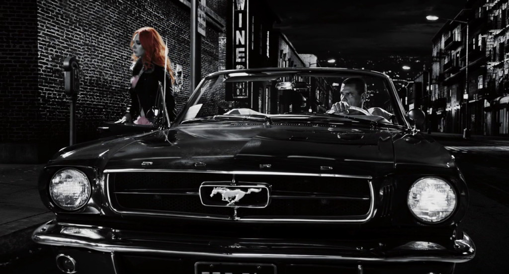 Ford Mustang from Sin City: A Dame to Kill For (2014, Dimension Films, screen capture)