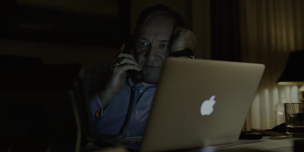 Apple from House of Cards season 3 (2015, Netflix, screen capture)
