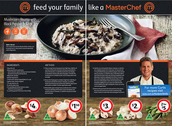 MasterChef in Coles' leaflet