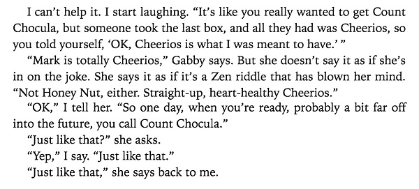 Cheerios and Count Chocula in Maybe in Another Life (2015, screen capture)