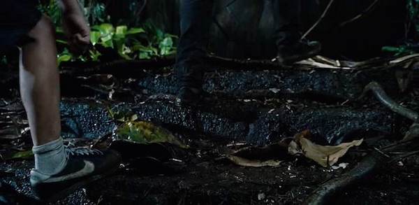 Nike sneakers in Jurassic World (2015, Universal, screen capture)
