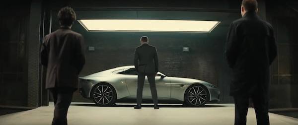 Aston Martin DB10 in Spectre (2015, Sony Pictures and Columbia, screen capture)