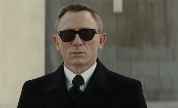 Tom Ford's Snowdon sunglasses in Spectre (2015, Sony Pictures and Columbia, screen capture)