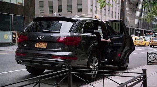 Audi's product placement in The Intern (2015, Warner Bros., screen capture)
