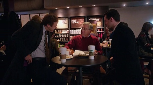 Starbucks' product placement in The Intern (2015, Warner Bros., screen capture)