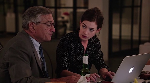 Stella Artois' product placement in The Intern (2015, Warner Bros., screen capture)